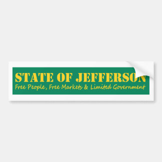State of Jefferson bumber sticker Bumper Sticker