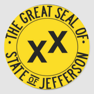State of Jefferson Classic Round Sticker