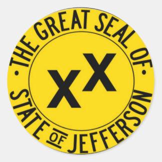 State of Jefferson Round Sticker