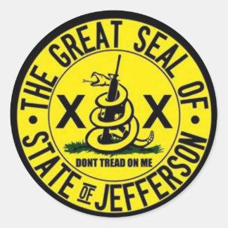 State of Jefferson Seal Round Sticker