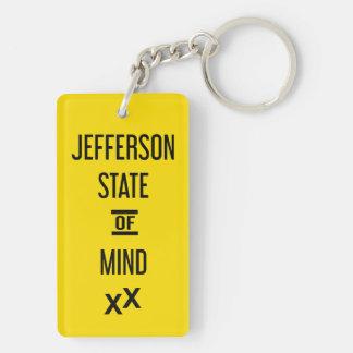 State of Jefferson X X Acrylic Keychain