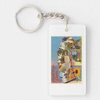 State of Kansas KS Old Vintage Travel Souvenir Single-Sided Rectangular Acrylic Keychain