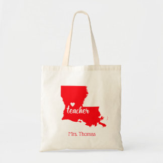 State of Louisiana Personalized Teacher Tote