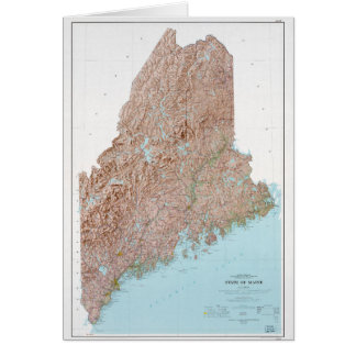 State of Maine Map (1977) Card