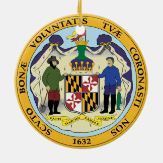 STATE OF MARYLAND SEAL CERAMIC ORNAMENT