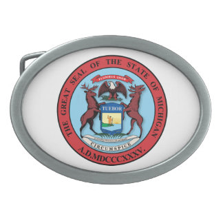 State of Michigan Great Seal Belt Buckle