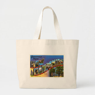 State of New Hampshire NH Vintage Travel Souvenir Large Tote Bag