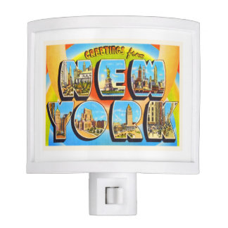 State of New York NY Old Vintage Travel Souvenir Night Lite