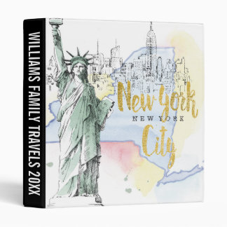 State of New York | Statue of Liberty 3 Ring Binder