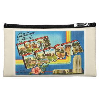 State of North Dakota ND Vintage Travel Souvenir Cosmetic Bag