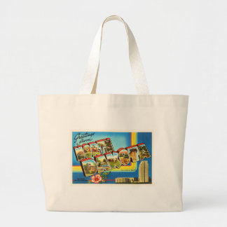 State of North Dakota ND Vintage Travel Souvenir Large Tote Bag