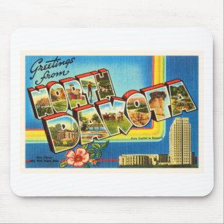 State of North Dakota ND Vintage Travel Souvenir Mouse Pad