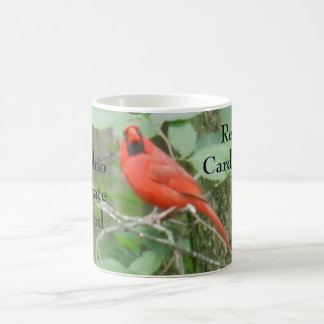 STATE OF OHIO BIRD RED CARDINAL MAGIC MUG