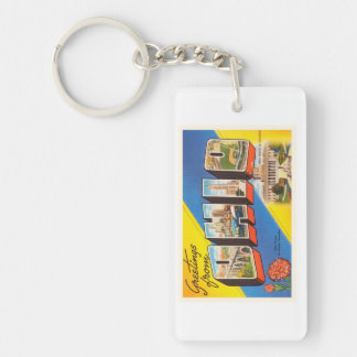 State of Ohio OH Old Vintage Travel Souvenir Keychain