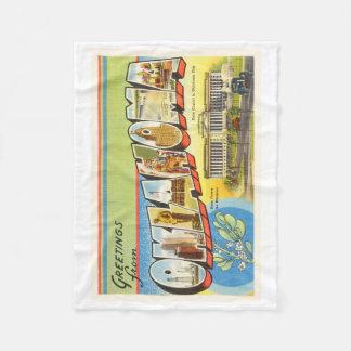 State of Oklahoma OK Old Vintage Travel Souvenir Fleece Blanket