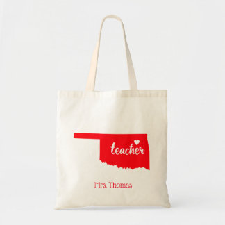 State of Oklahoma Personalized Teacher Tote