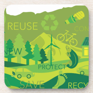 State of Oregon Map Environment Eco Outline Coaster