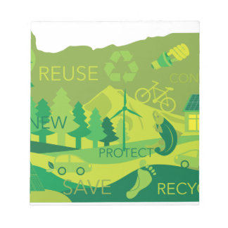 State of Oregon Map Environment Eco Outline Notepad