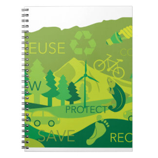 State of Oregon Map Environment Eco Outline Spiral Notebook