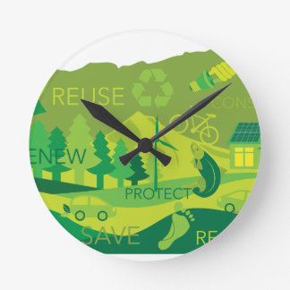 State of Oregon Map Environment Eco Outline Wallclock