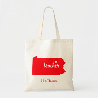 State of Pennsylvania Personalized Teacher Tote
