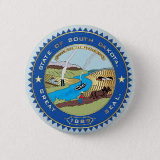 State of South Dakota seal 2 Inch Round Button