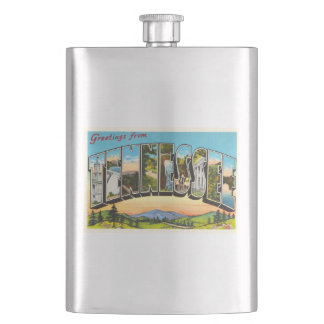 State of Tennessee TN Old Vintage Travel Souvenir Flasks