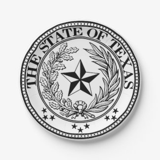 State of Texas Custom Paper Plates 7""
