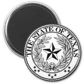 State of Texas Magnet White