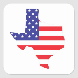 State of Texas Square Sticker