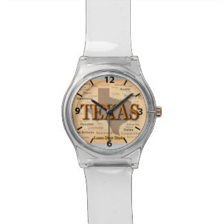 State of Texas Vintage Map, Austin, Houston Watch