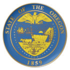State of the Oregon seal Plate