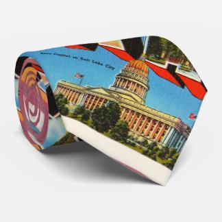 State of Utah UT Old Vintage Travel Souvenir Tie