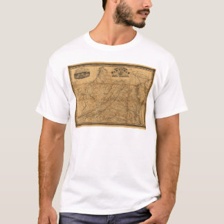 State of Virginia Map by West & Johnson (1862) T-Shirt