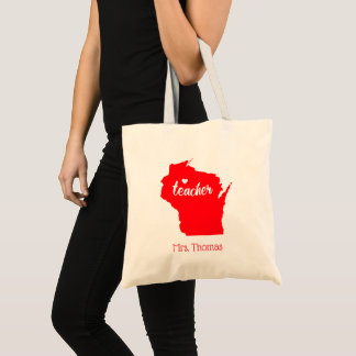 State of Wisconsin Personalized Teacher Tote