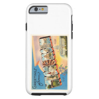 State of Wisconsin WI Old Vintage Travel Souvenir Tough iPhone 6 Case
