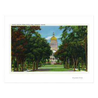 State Park View of the State Capitol Building Postcard