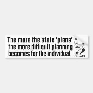 State Planning Bumper Sticker