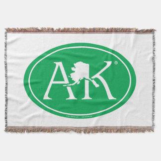 State Pride Euro: AK Alaska Throw Blanket