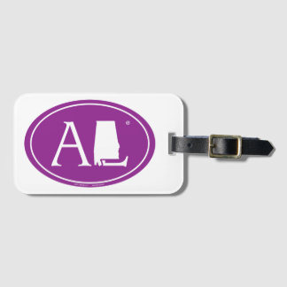 State Pride Euro: AL Alabama Luggage Tag