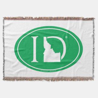 State Pride Euro: ID Idaho Throw Blanket