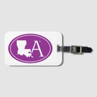 State Pride Euro: LA Louisiana Luggage Tag