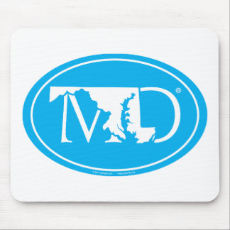 State Pride Euro: MD Maryland Mouse Pad