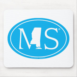 State Pride Euro: MS Mississippi Mouse Pad