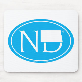 State Pride Euro: ND North Dakota Mouse Pad