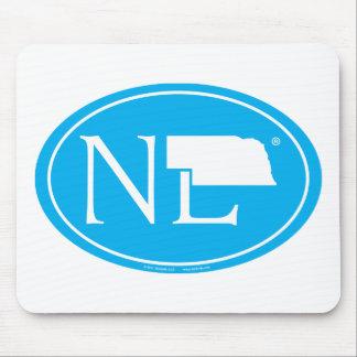 State Pride Euro: NE Nebraska Mouse Pad