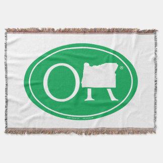 State Pride Euro: OR Oregon Throw Blanket
