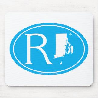 State Pride Euro: RI Rhode Island Mouse Pad