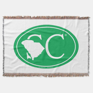 State Pride Euro: SC South Carolina Throw Blanket