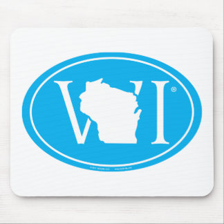 State Pride Euro: WI Wisconsin Mouse Pad
